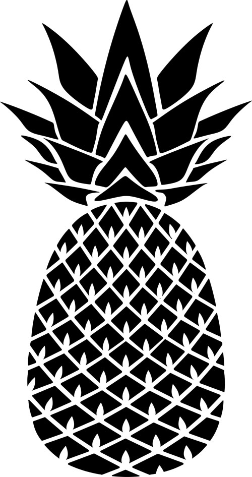 The gallery for --> Cute Pineapple Stencil  Cute Pineapple Stencil