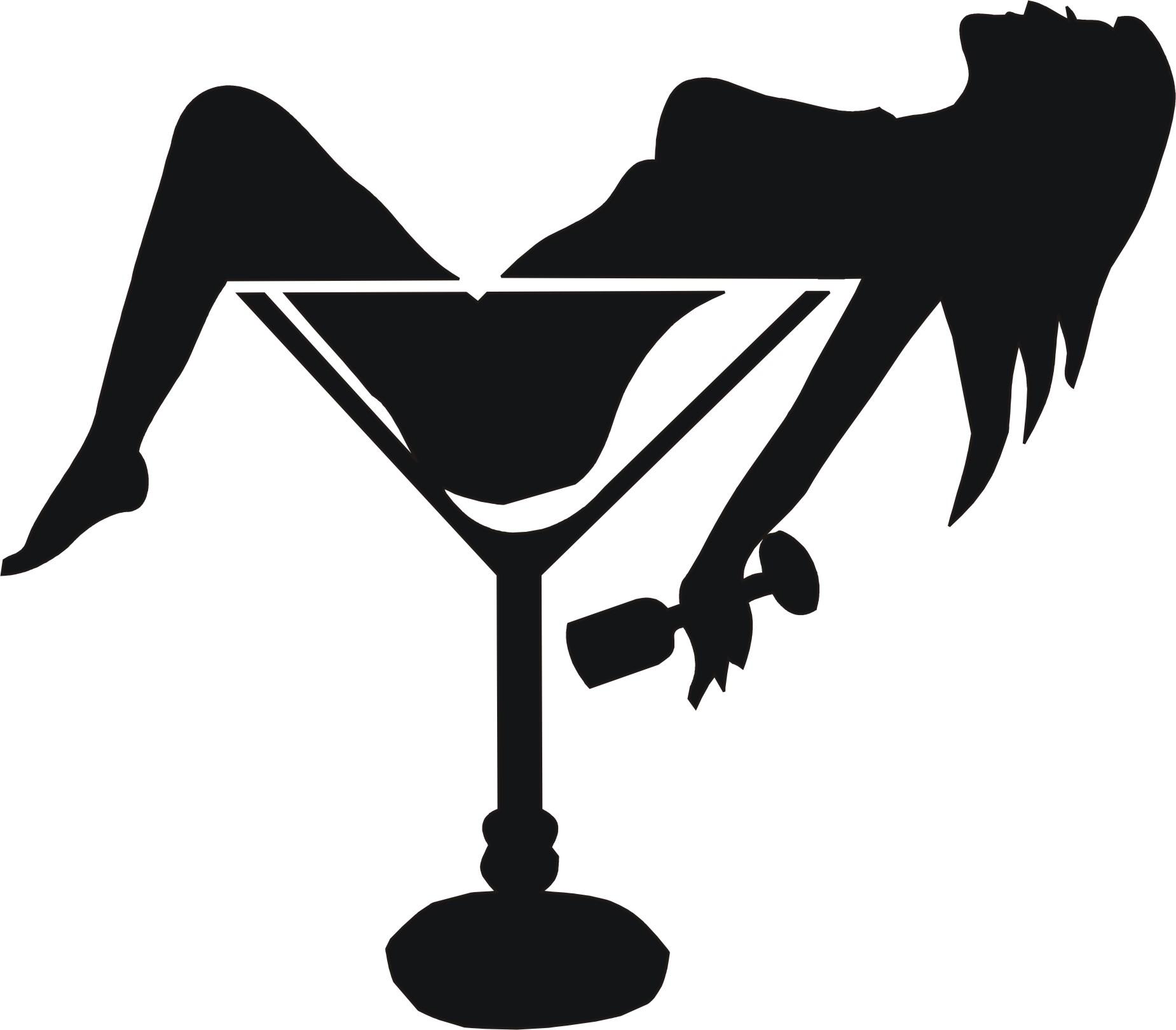 Jesus Drinking Wine Stencil